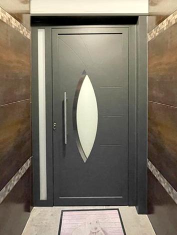 Puertas de aluminio para entrada principal interesting - Puertas de aluminio para entrada principal ...